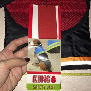 Kong Other - Pet Dog Animal Vest Jacket Reflective Kong Red